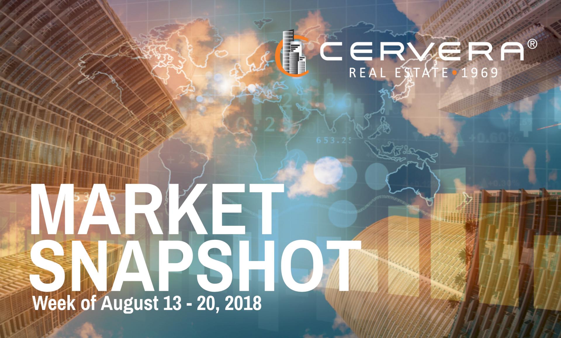 Market Snapshot: Week of Aug. 13 - 20